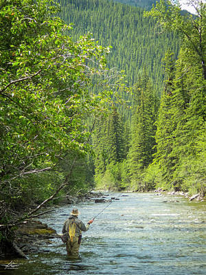 Photograph - Casting To Cutthroats On The Oldman River by Karen Rispin