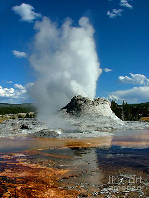 Castle Geyser Puttin Print by Katie LaSalle-Lowery