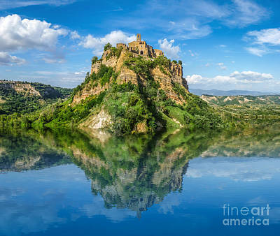 Castle In The Lake Print by JR Photography