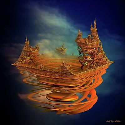 Sky Digital Art - Castle In The Sky 2 by Lilia D
