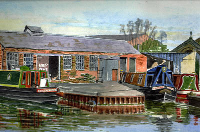 Wood Castle Painting - Castle Mill Boatyard. Oxford by Mike Lester