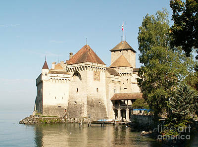 Castle Of Chillon Print by Evgeny Pisarev