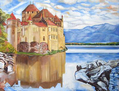 Castle Of Chillon Print by John Keaton