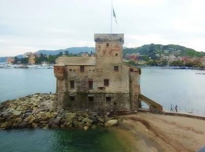 Castle Of Rapallo Original by Marilyn Dunlap