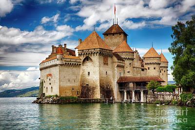 Castle On Lake Geneva II Print by George Oze