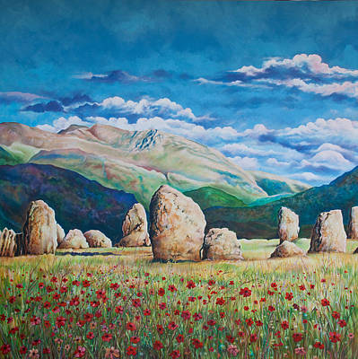 Megalith Painting - Castle Rigg Stone Circle by Zoran Peshich