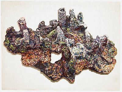 Ruins Mixed Media - Castle Ruins by Karl Frey