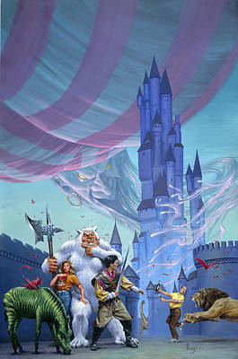 Zebra Painting - Castle Spellbound by Richard Hescox