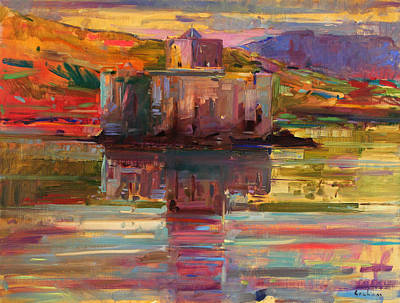 Castle Painting - Castlebay   Barra by Peter Graham
