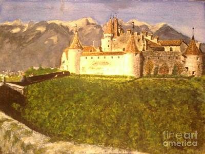 Baseball Card Painting - Castlewine by Rick Elam