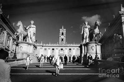 Capitoline Photograph - Castor And Pollux In Rome, Italy. by Stefano Senise