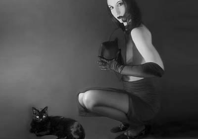 Self-portrait Photograph - Cat Eyes - Self Portrait by Jaeda DeWalt