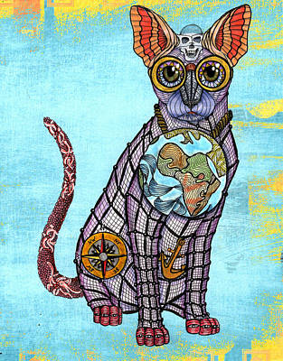 Catfish Mixed Media - Cat Fish by Linda McMillen