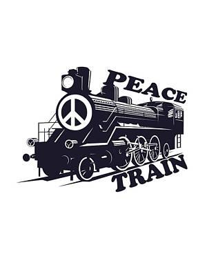 Cat Stevens - Peace Train Is Coming Print by Lee Brown