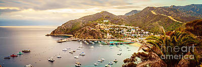 Santa Catalina Island Photograph - Catalina Island Avalon Bay Panorama Photo by Paul Velgos