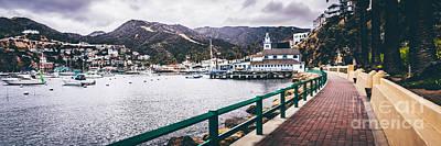 Santa Catalina Island Photograph - Catalina Island Avalon Bay Panorama Picture by Paul Velgos