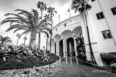 Santa Catalina Island Photograph - Catalina Island Casino Black And White Photo   by Paul Velgos