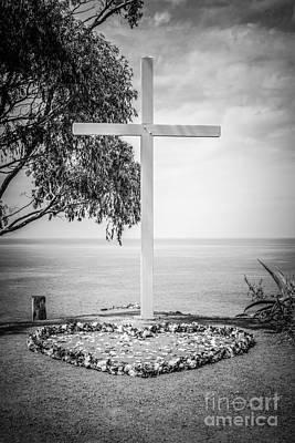 Santa Catalina Island Photograph - Catalina Island Cross Black And White Photo by Paul Velgos