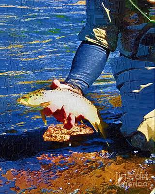 Catch And Release Print by Diane E Berry