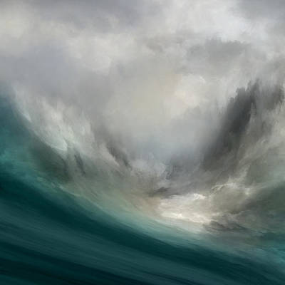 Stormy Mixed Media - Catching Waves by Lonnie Christopher