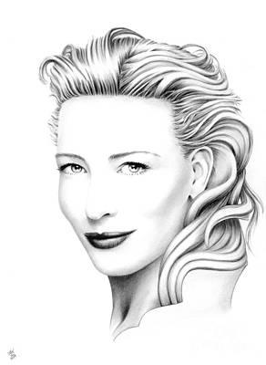 Cate Blanchett Portrait Print by Wu Wei