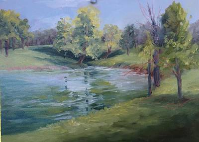 Painting - Catfish Pond by Donna Pierce-Clark