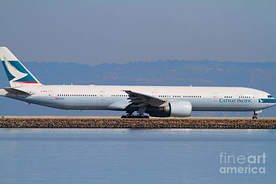 Cathay Pacific Airlines Jet Airplane At San Francisco International Airport Sfo . 7d11882 Print by Wingsdomain Art and Photography