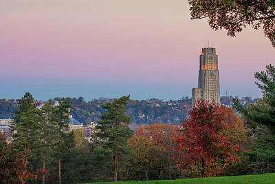 Cathedral Of Learning Print by Emmanuel Panagiotakis