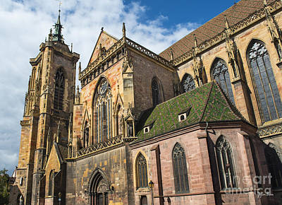 Vineyards Of Alsace Photograph - Cathedral Of Saint Martin In Colmar by Yefim Bam