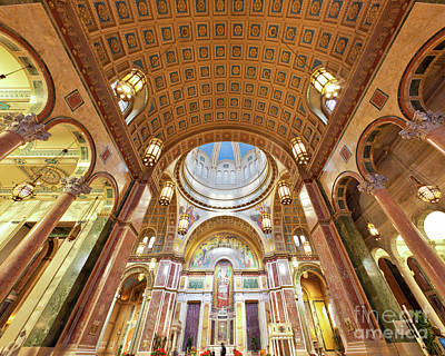 Cathedral Of St. Matthew Viii Print by Irene Abdou