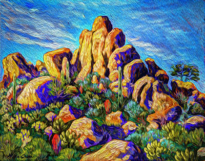 Cathedral Rocks Print by Michael Gross