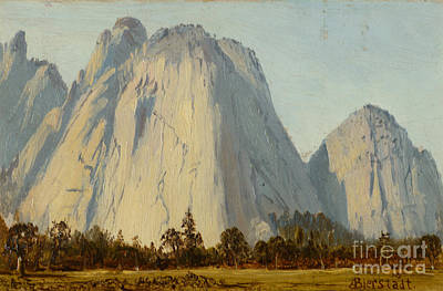 Cathedral Rocks  - Yosemite Valley Print by Celestial Images