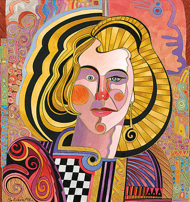 Abstract Realism Painting - Catherine by Bob Coonts