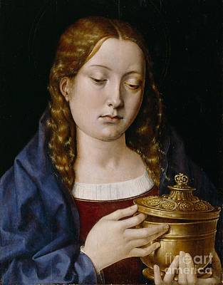 Mary Magdalene Painting - Catherine Of Aragon As The Magdalene by Michiel Sittow