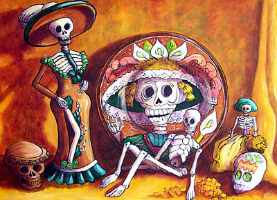 Calavera Painting - Catrina Still Life by Candy Mayer