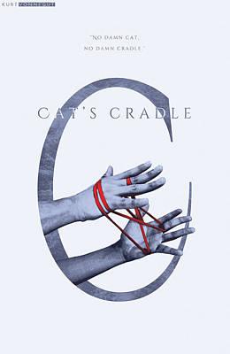 Book Title Digital Art - Cat's Cradle, Kurt Vonnegut by Connor Sorhaindo