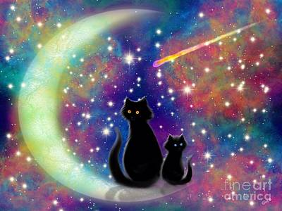 Digital Art - Cats In A Rainbow Universe by Nick Gustafson