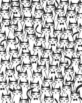 Cats Drawing - Cats by Uma Gokhale