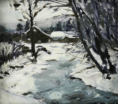 Heather Burton Painting - Catskill Creek by Heather Burton