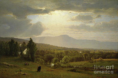 Sun Rays Painting - Catskill Mountains by George Inness