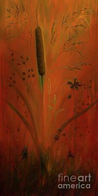 Dog Painting - Cattail  by Zina Stromberg
