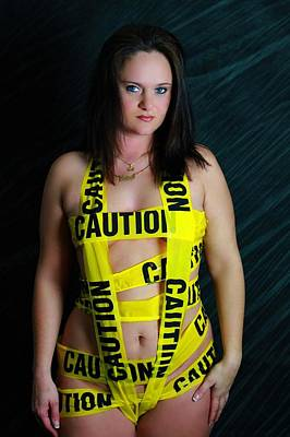 Caution Print by Dana  Oliver