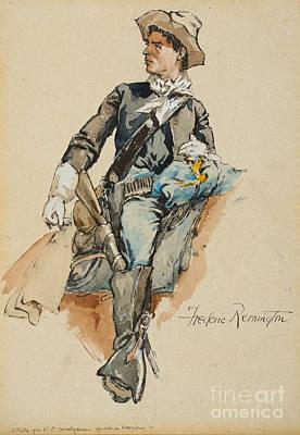 Cavalryman Made In Arizona Print by Frederic Remington