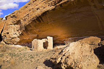 Chaco Canyon Photograph - Cave House 2, Chaco Canyon by Buddy Mays
