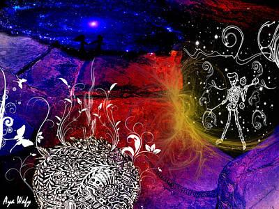 Cave Man Print by Aya Wafi