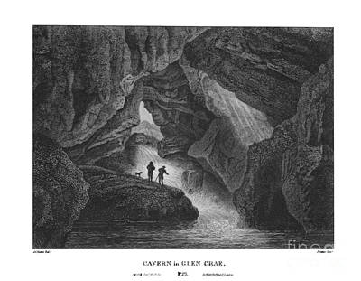 Cavern Painting - Cavern In Glen Crae  by James Fittler