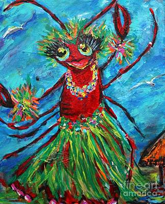Crawfish Painting - Cayman Island Crustacean by Sharon Furrate