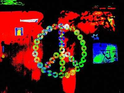 Cd Peace Cycle Print by Connie Valasco