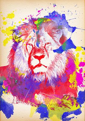 Cecil The Lion 3 - By Diana Van Print by Diana Van