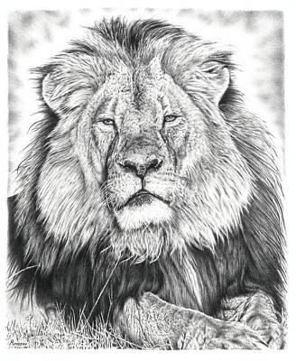 Cecil The Lion  Print by Remrov Vormer